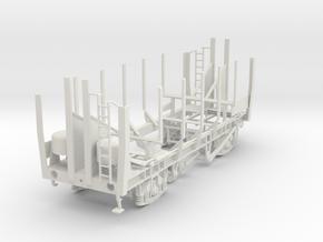 7mm PAA grain wagon vacuum braked empty in White Natural Versatile Plastic