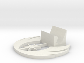 Jedi Symbol Business Card Holder in White Natural Versatile Plastic