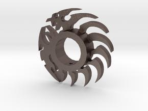 Dragon Lightsaber Tsuba in Polished Bronzed-Silver Steel