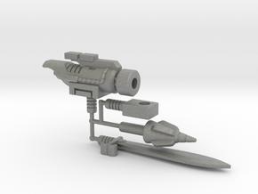 Dinobot Slug's Arsenal, 5mm (PotP) in Gray Professional Plastic