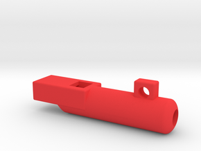 whistle short and round in Red Processed Versatile Plastic