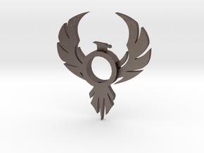 Pheonix Lightsaber Tsuba in Polished Bronzed-Silver Steel