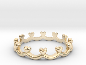 Scalloped Heart Edge Ring (Multiple Sizes) in 14K Yellow Gold: 4 / 46.5