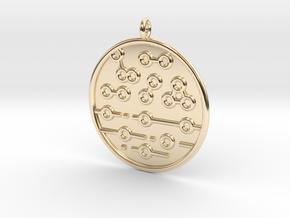 Chemistry Symbol in 14K Yellow Gold