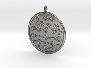 Chemistry Symbol in Polished Silver