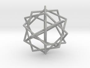 0453 Interwoven Set of Six Pentagons (d=10.0 cm) in Aluminum