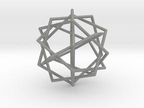 0453 Interwoven Set of Six Pentagons (d=10.0 cm) in Gray Professional Plastic