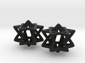 Double Star in Black Natural Versatile Plastic