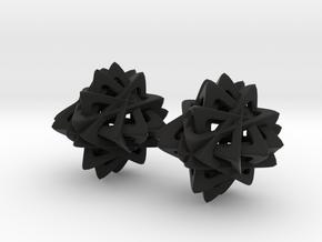 Cross Flower in Black Natural Versatile Plastic