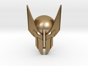 The Mask of Feral Rage - Wolverine's Mask in Polished Gold Steel