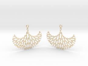 GT Earrings in 14k Gold Plated Brass