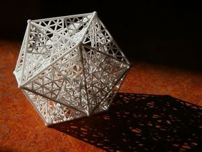 8 cm Great dodecahedron in White Strong & Flexible