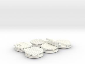 40 mm industrial base  in White Processed Versatile Plastic