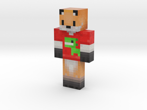 Christmas T-Rex Fox Skin | Minecraft toy in Natural Full Color Sandstone