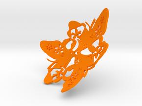 Butterfly Bowl 1 - d=9cm in Orange Processed Versatile Plastic