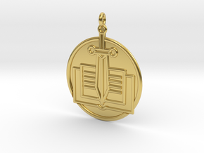 History Symbol in Polished Brass