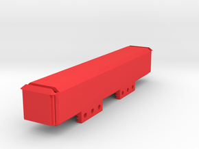 Stick Battery Box (150mm) in Red Processed Versatile Plastic