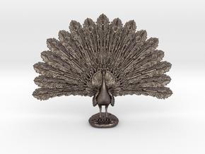 Desktop Peacock in Stainless Steel