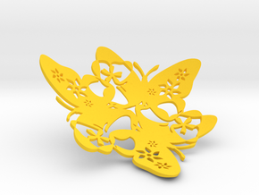 Butterfly Bowl 1 - d=12cm in Yellow Processed Versatile Plastic