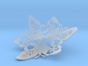 Butterfly Bowl 1 - d=11cm in Smooth Fine Detail Plastic