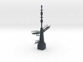 1/96 / 1/100 scale British Navy Type 23 Aft Mast in Black Professional Plastic