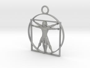 vitruvian man 5cm in Aluminum