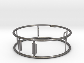 German Wheel Sculpture - 15 cm Diameter in Polished Nickel Steel