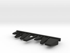 1/96 scale Burke Above Bridge Platforms set in Black Premium Versatile Plastic