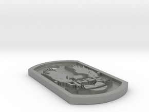UNSC Halo Themed Dog Tag in Gray Professional Plastic