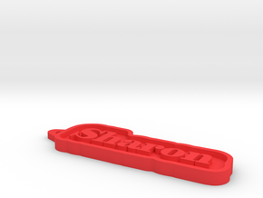 Sharon Name Tag in Red Processed Versatile Plastic