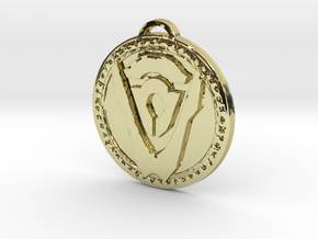 Hand of Argus Faction Medallion in 18K Yellow Gold