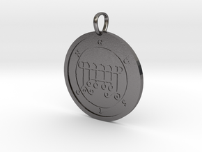 Gusion Medallion in Polished Nickel Steel