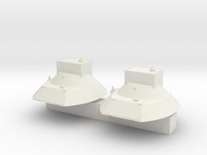 "1V119 ""Reostat""  conversion Turret ( x2)  in White Natural Versatile Plastic"