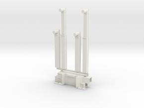 P 100-15 Ladekran 100mt Heckstuetzen 1:50 in White Natural Versatile Plastic