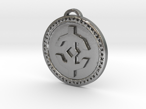 Holy Light Faction Medallion in Natural Silver