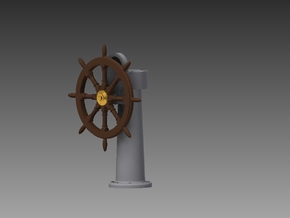 Ships wheel and post 1/35 in Smooth Fine Detail Plastic