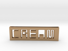 C.R.E.A.M. Moneyclip...so that Cash never dies OUT in Polished Brass