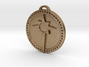 Argent Crusade Faction Medallion in Polished Gold Steel