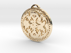 Warlock Class Medallion in 14k Gold Plated Brass