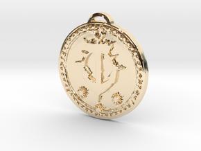 Kul Tiras Faction Medallion (Original) in 14k Gold Plated Brass