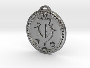 Kul Tiras Faction Medallion (Original) in Natural Silver