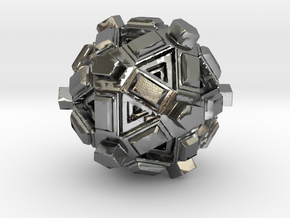 Amaze-ball in Polished Silver