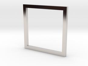 Square 12.37mm in Platinum