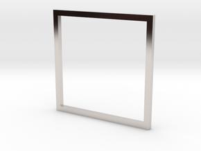 Square 17.35mm in Platinum