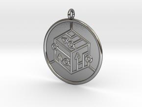 logic Symbol in Polished Silver