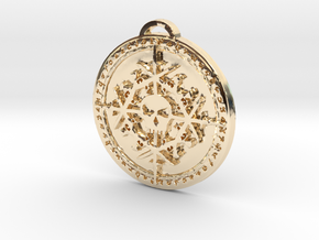 Rogue Class Medallion in 14k Gold Plated Brass