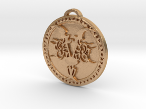 Demon Hunter Class Medallion in Natural Bronze