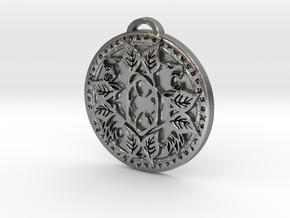 Druid Class Medallion in Natural Silver