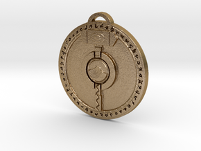 Ironforge Faction Pendant in Polished Gold Steel