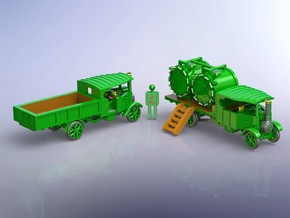 Foden Steam Trucks 1916 1/160 in Smooth Fine Detail Plastic